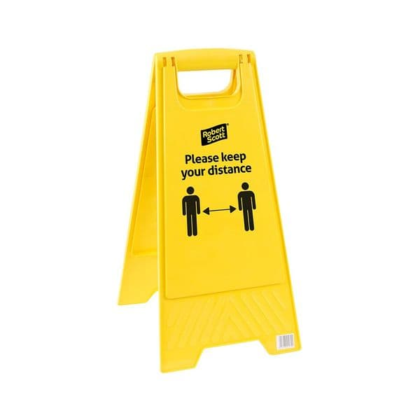 Social Distancing 'Please Keep Your Distance' Floor Safety Sign
