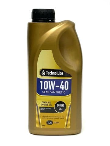 A3/B3 Engine Oil 10W-40 Semi Synthetic 1 Litre Technolube API SL/CF
