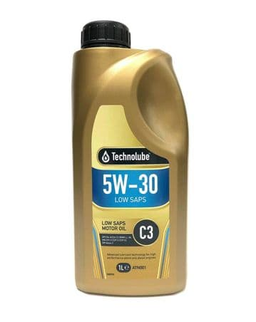 C3 Long-Life Engine Oil 5W30 Fully Synthetic 1 Litre Petrol & Diesel Technolube