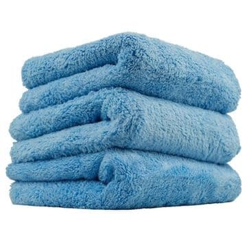 "Chemical Guys Happy Ending Edgeless Microfibre Towel Blue 16"" x 16"" - 3 x Pack"