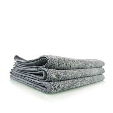 "Chemical Guys Workhorse Grey Premium Grade Microfibre Cloth 16"" x 16"" - 3 Pack"