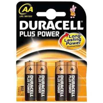 Duracell Plus Power AA Type Batteries MN1500