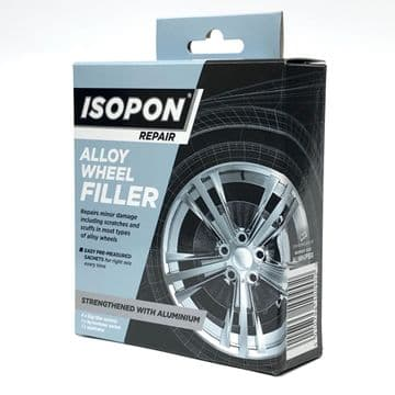 Isopon Alloy Wheel Repair Filler 4 x 25g Sachet with Real Aluminium