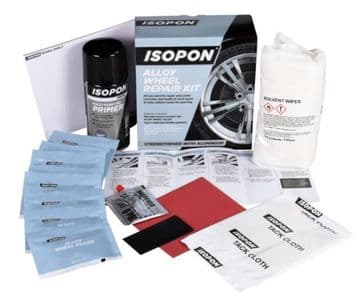ISOPON Alloy Wheel Repair Kit Strengthened with Real Aluminium - Includes Primer