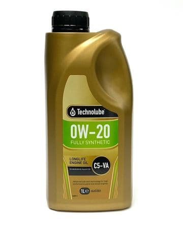 Long-Life Engine Oil 0W20 Fully Synthetic C5-VA VW Specification 1L Technolube