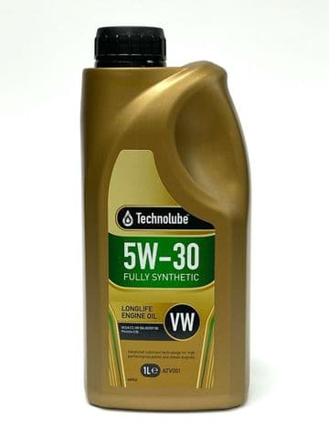 Long-Life Engine Oil 5W30 Fully Synthetic Low Saps VW Spec 1L Technolube