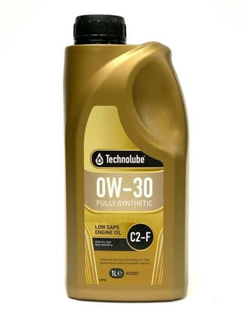 Low SAPS Engine Oil 0W30 Fully Synthetic C2-F Ford Diesel Spec. 1L Technolube