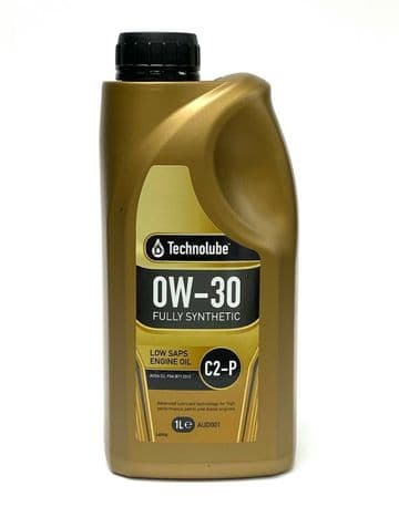 Low SAPS Engine Oil 0W30 Fully Synthetic C2-P Peugeot/Citroen 1L Technolube
