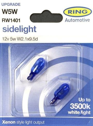 Ring Xenon Style W5W/501 Sidelight Bulb Upgrade Pack RW1401