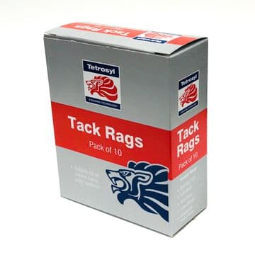 Tetrosyl Tack Rags/Panel Wipes - 10 Pack UTR001