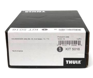 Thule Evo Fitting Kit 5016 Fits VW Jetta 4 Door Saloon 2011 on With Normal Roof