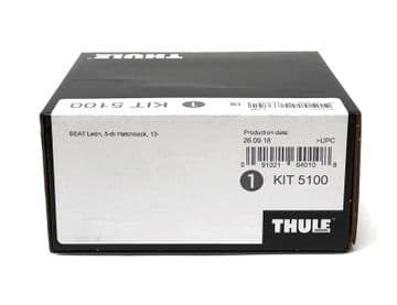 Thule Evo Fitting Kit 5100 Fits Seat Leon Hatchback 2013 on With Normal Roof
