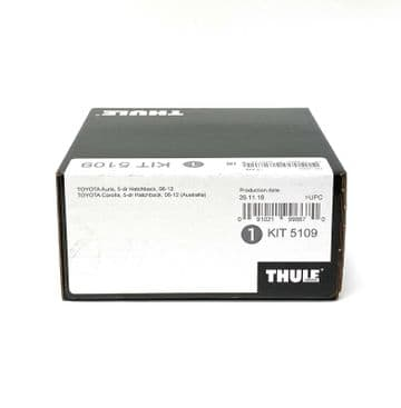 Thule Evo Fitting Kit 5109 Toyota Auris & Corolla 2006-2012 on With Normal Roof