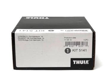 Thule Evo Fitting Kit 5141 Fits Citroen Peugeot Toyota 2014 on With Normal Roof
