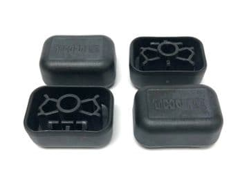 Thule Roof Bar End Caps For New Style Steel Square Bars Pack 4 Push Fit 52968