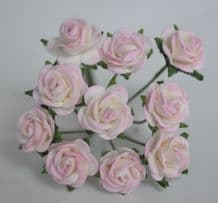 1 cm LIGHT ROSY PINK Mulberry Paper Roses