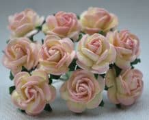 1 cm ROSE PINK Mulberry Paper Roses