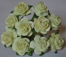 1.5cm GROOSEBERRY GREEN Mulberry Paper Roses