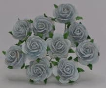 1.5cm LIGHT BABY BLUE Mulberry Paper Roses