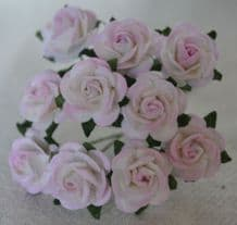 1.5cm LIGHT ROSY PINK Mulberry Paper Roses