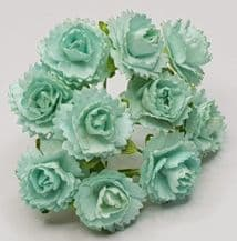 1.8 cm MINT GREEN CARNATION dianthus Mulberry Paper Flowers
