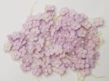100 PALE LILAC Miniature Daisy  on Tread Mulberry Paper Flowers