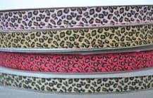 10mm LEOPARD SPOTS (FINE) GROSGRAIN RIBBON
