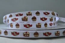 10mm SWEETS, CAKES and CUPCAKES GROSGRAIN RIBBONS