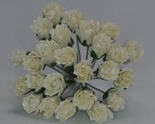 11mm WHITE CARNATION dianthus BUDS Mulberry Paper Flowers