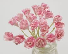 2 tone PINK GYPSOPHILA / FORGET ME NOT (Single Layer) Mulberry Paper Flowers