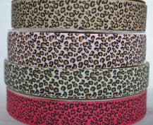 22mm LEOPARD SPOTS GROSGRAIN RIBBONS