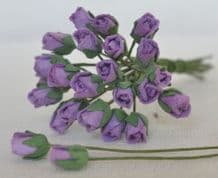 4mm LILAC VIOLET ROSE BUDS Mulberry Paper Flowers
