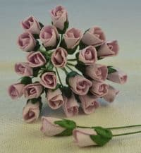 6mm PALE LILAC ROSE BUDS (L) Mulberry Paper Flowers