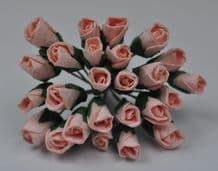 6mm PALE PINK ROSE BUDS (L) Mulberry Paper Flowers
