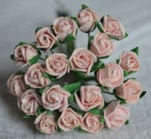 8mm PALE PINK SEMI-OPEN ROSE BUDS Mulberry Paper Flowers