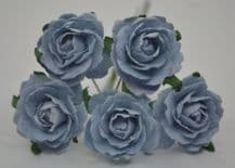 BABY BLUE ENGLISH (2.5-2.7 cm) Mulberry Paper Roses