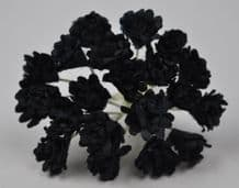 BLACK GYPSOPHILA / FORGET ME NOT Mulberry Paper Flowers