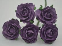 DARK LILAC ENGLISH (2.5-2.7 cm) Mulberry Paper Roses