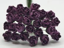 DARK LILAC HIP ROSE BUDS Mulberry Paper Flowers