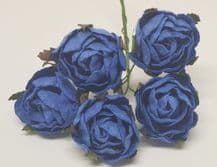 DEEP ROYAL BLUE PEONY (2.3 cm) Mulberry Paper