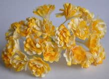 GOLDEN YELLOW GYPSOPHILA / FORGET ME NOT Mulberry Paper Flowers