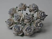 LIGHT LILAC BLUE ROSES (2.0 cm) Mulberry Paper Roses