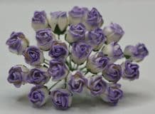 LIGHT LILAC HIP ROSE BUDS Mulberry Paper Flowers