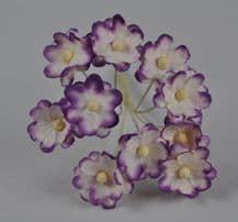 LILAC WHITE CHERRY BLOSSOM Mulberry Paper Flowers
