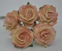 MEDIUM COOPER ENGLISH (2.5-2.7 cm) Mulberry Paper Roses