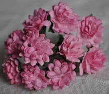 MEDIUM PINK ASTER Daisy (1.3 cm) Mulberry Paper Flowers