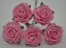 MEDIUM PINK ENGLISH (2.5-2.7 cm) Mulberry Paper Roses