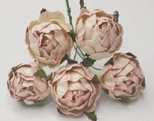 MEDIUM ROSY PINK WHITE PEONY (2.3 cm) Mulberry Paper