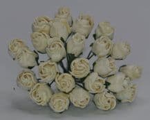 OFF WHITE HIP ROSE BUDS Mulberry Paper Flowers