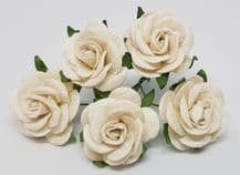OFF WHITE ROSES (2.5 cm) Mulberry Paper Roses